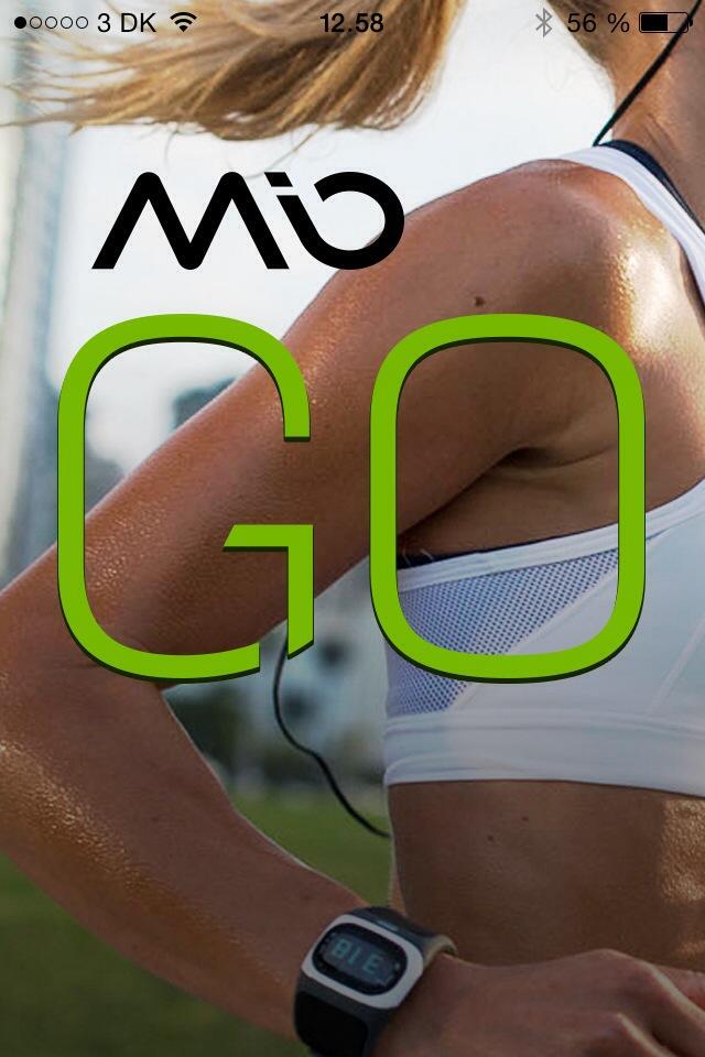 MIOs egen GO app som partner til Alpha uret. Du kan frit vælge denne eller et hav af andre træningsapps som Endomondo, Wahoo, Strava osv.