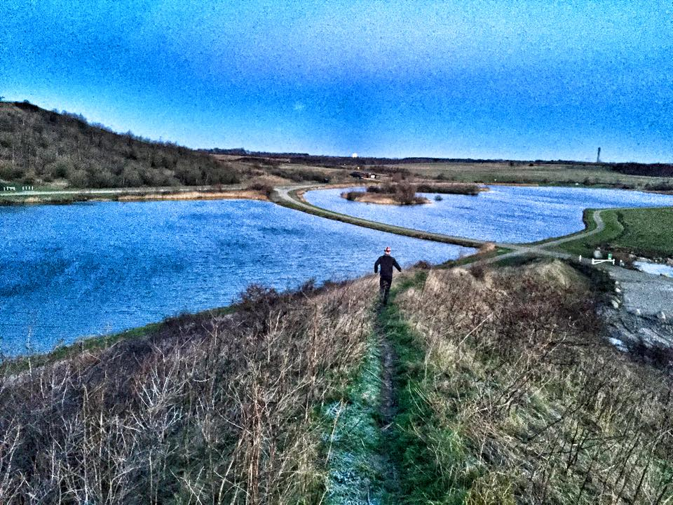Et stemningsbillede fra en kold og blæsende morgen i Hedeland ved Roskilde.