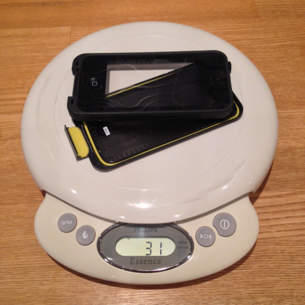 31 gram på køkkenvægten er respektabelt for et fuldt dækkende cover inkl. skærmbeskyttelse.