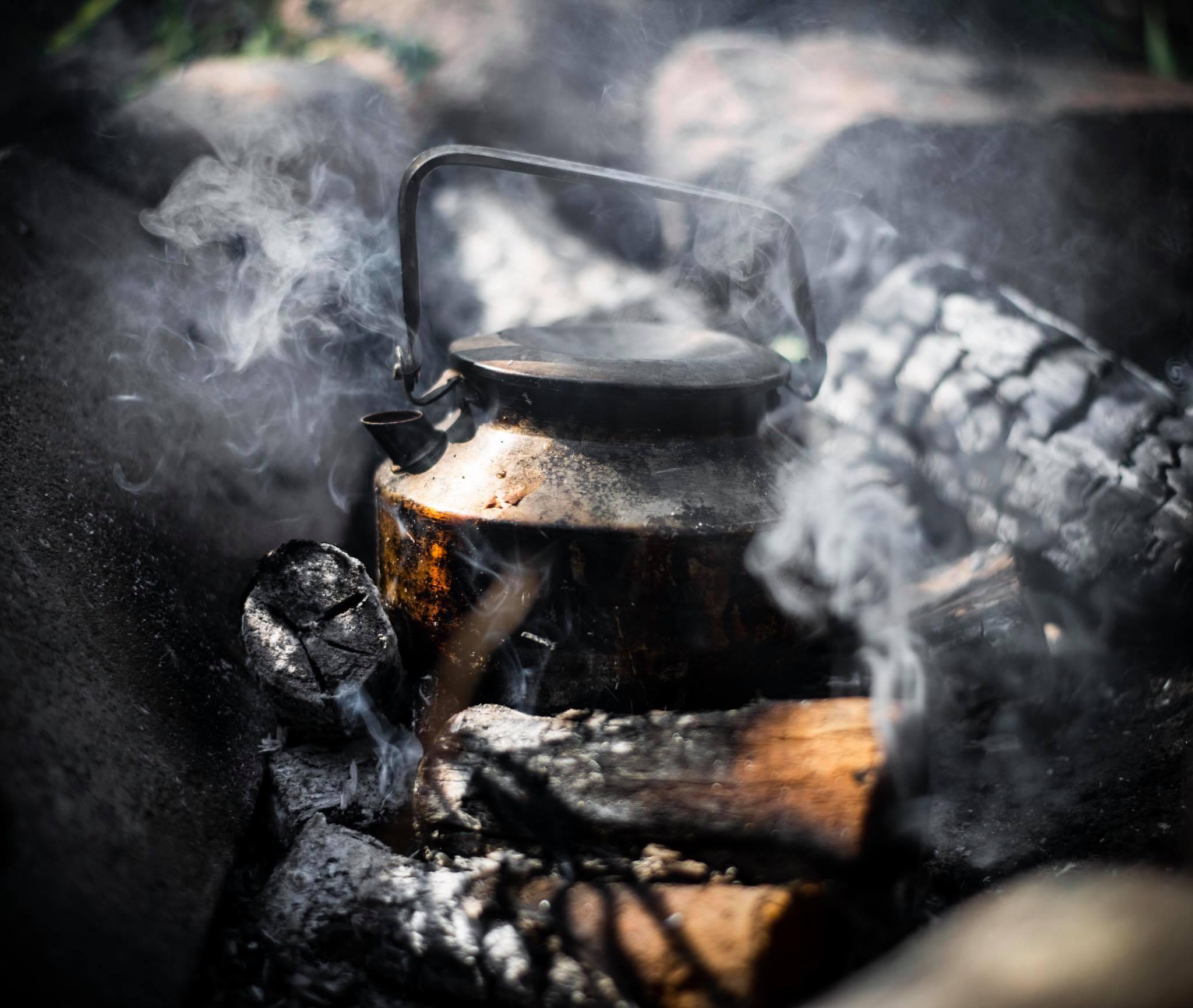 Kaffe på vandre- , kano- eller shelterturen. Fotograf: Jacob Nyborg Andreassen