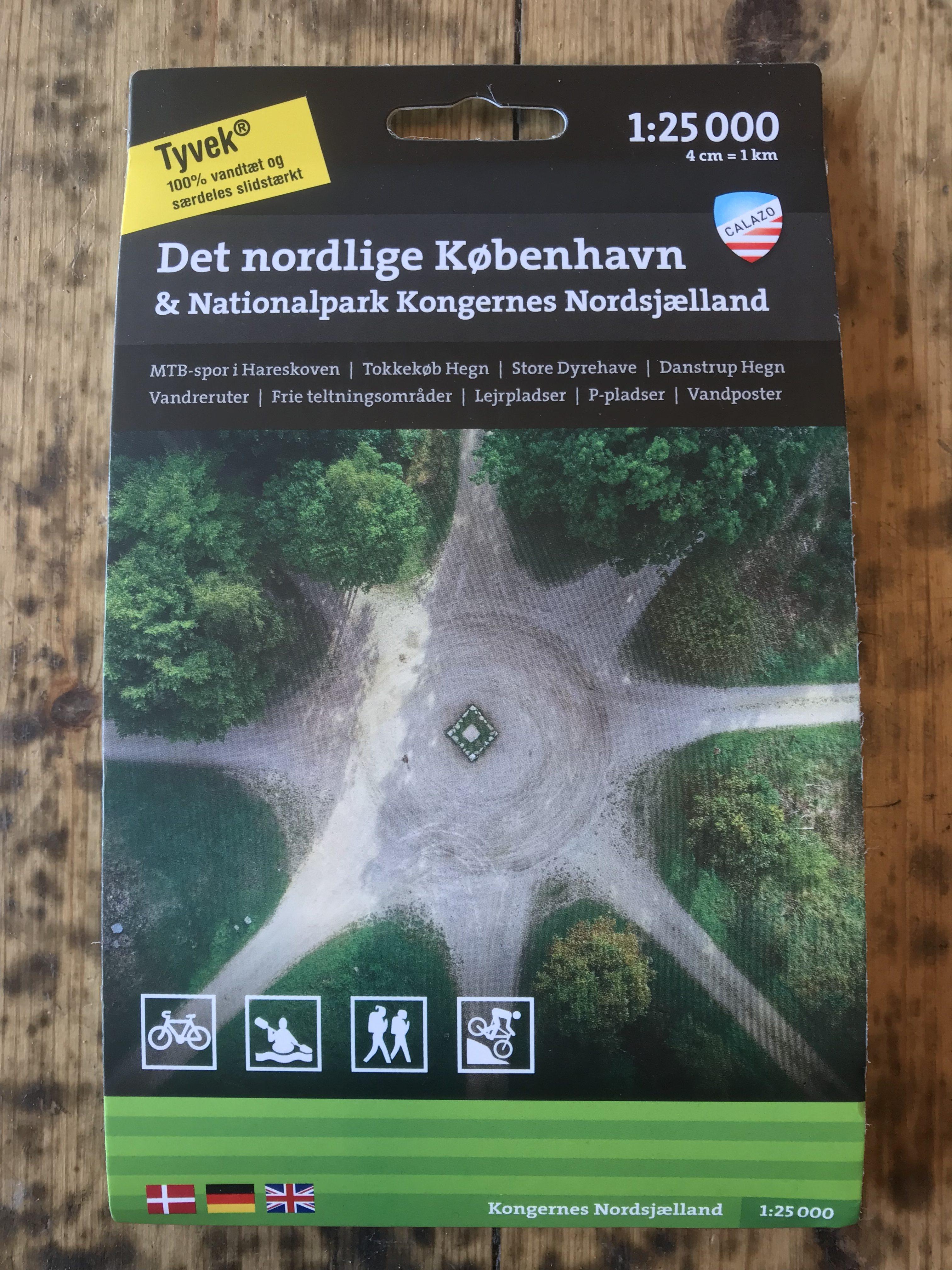 Calazo kort over Nordsjælland