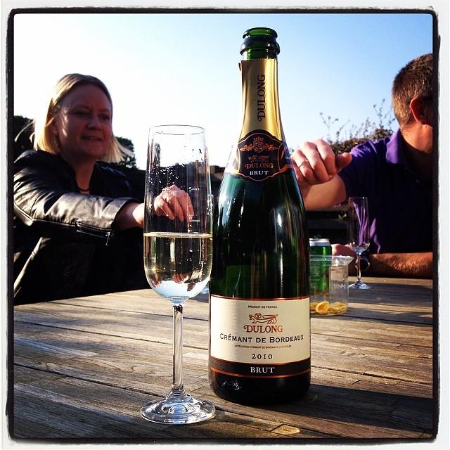 Fredagshygge på terrassen før Copenhagen Ultramarathon 2013.