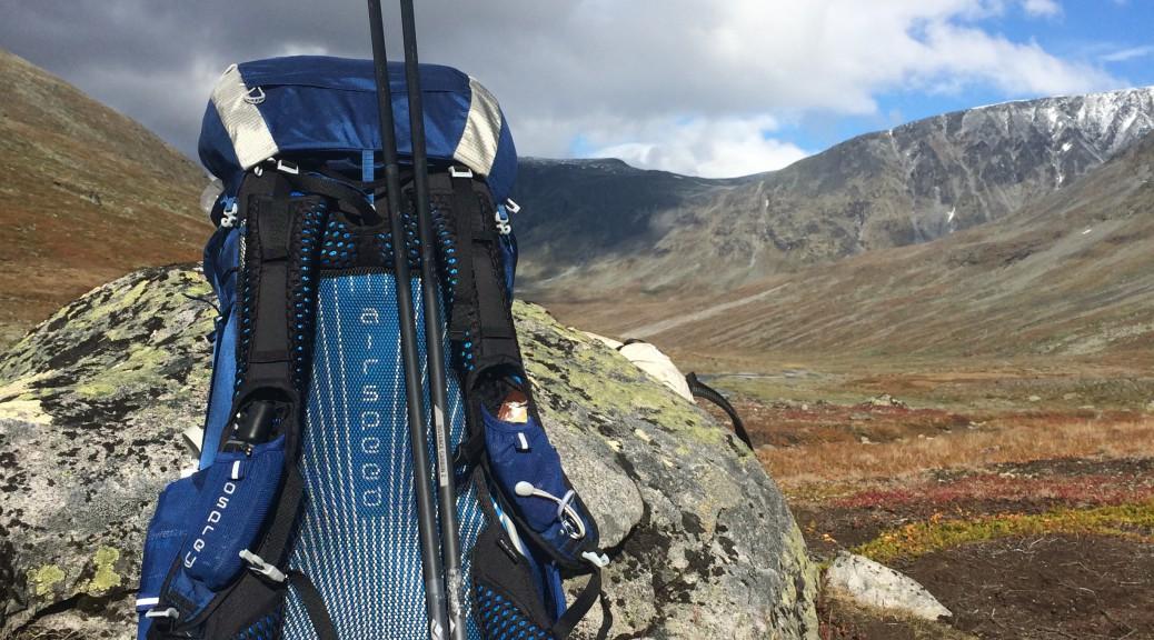 Osprey Exos 48 på Jotunheimen i Norge, september 2015