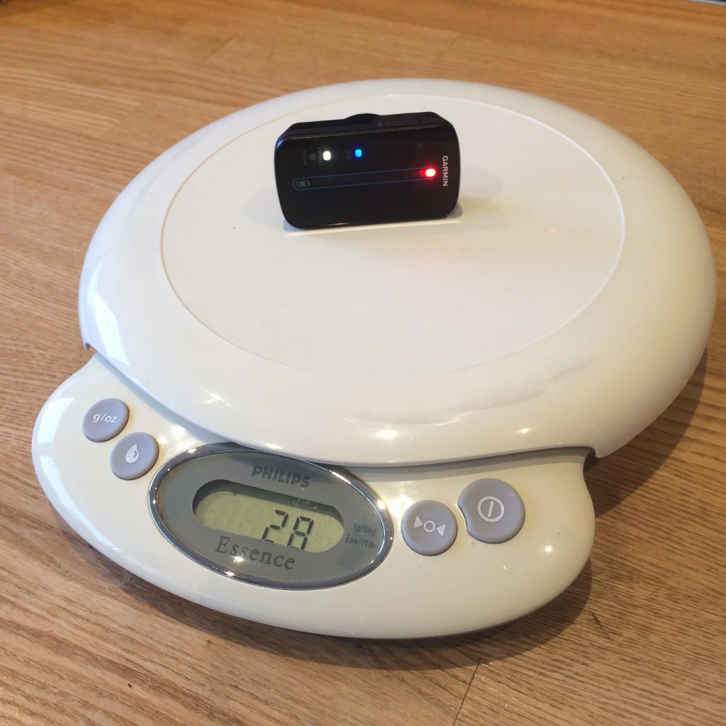 Varia RDU hovedenheden på vægten som stopper ved 28 gram.