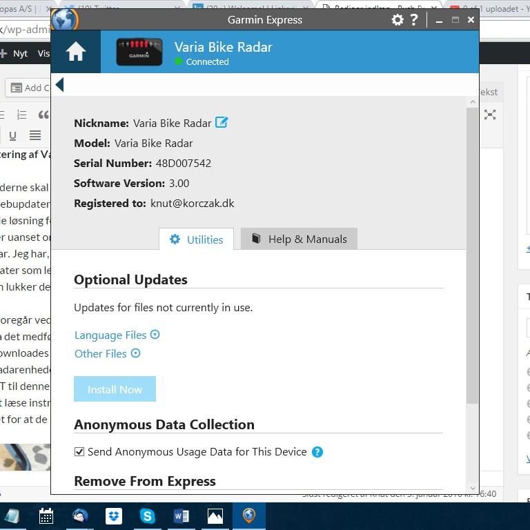 Garmin Express er den foretrukne løsning til opdatering af dine Garmin enheder.