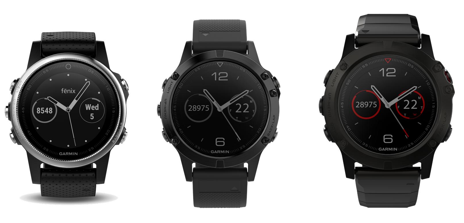 Den nye fënix 5 familie fra Garmin består af modellerne 5S, 5 og 5X.