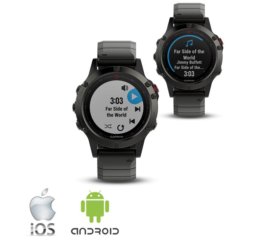smart watch funktioner i fënix 5S, fënix 5 og fënix 5X