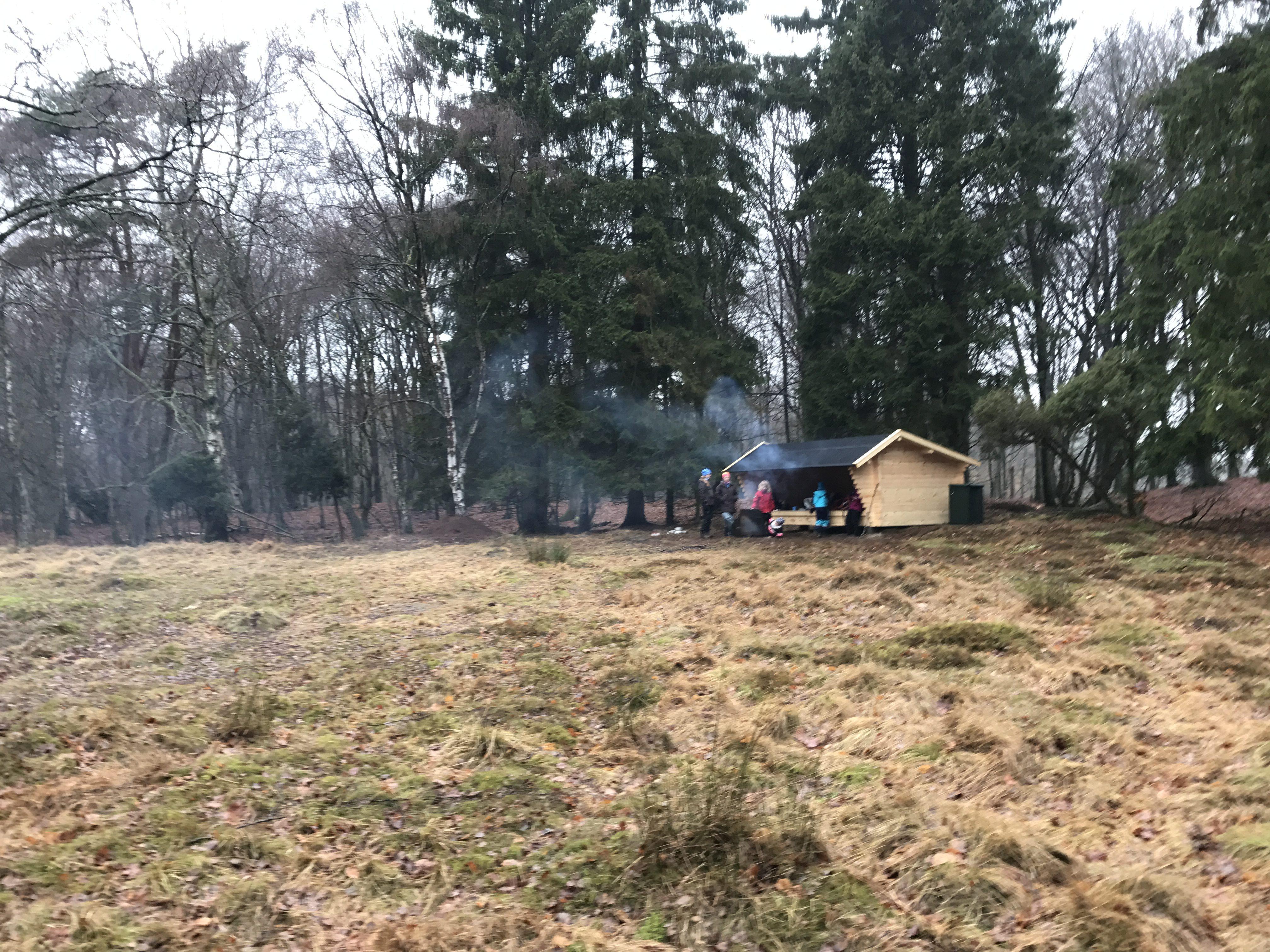 Häckeberga runt - nyopført shelter nær Galtesjöhus