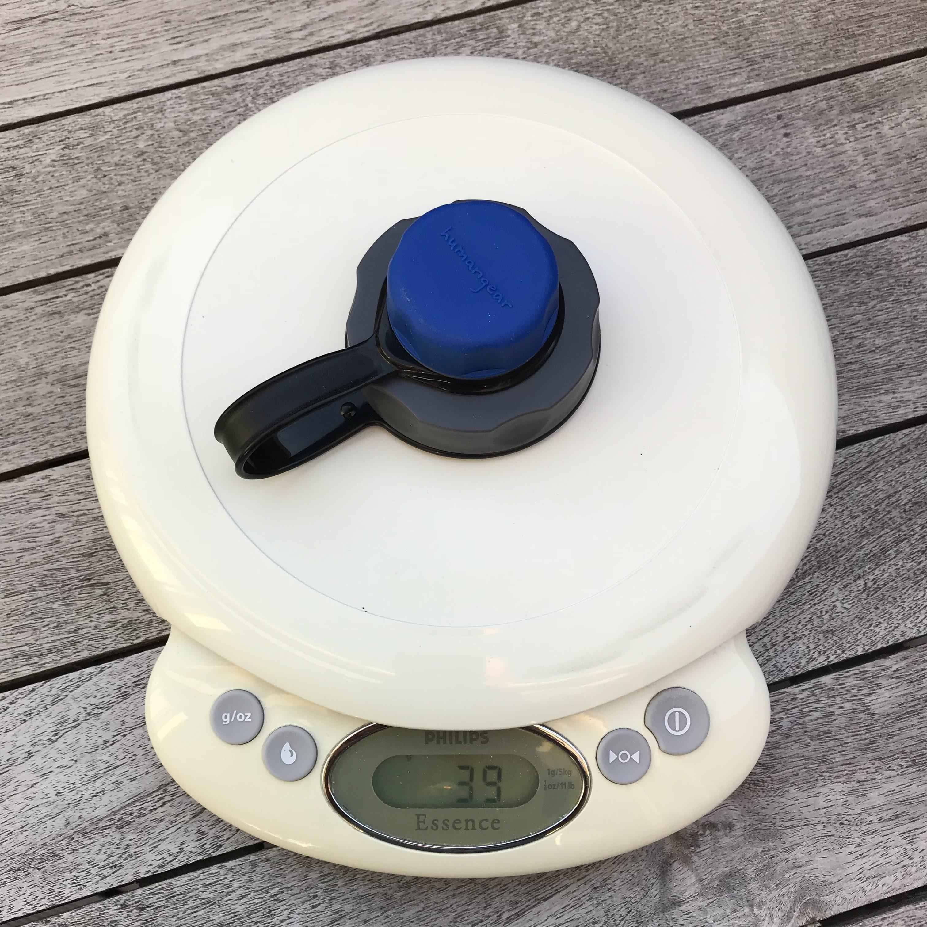 capCAP fra Humangear. capCAP låget fra Humangear vejer XX gram, altså en vægtforøgelse på hele XX gram.