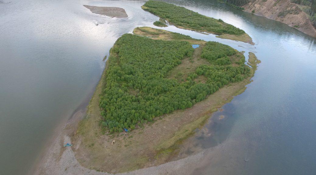 Gravel bar på Yukon River