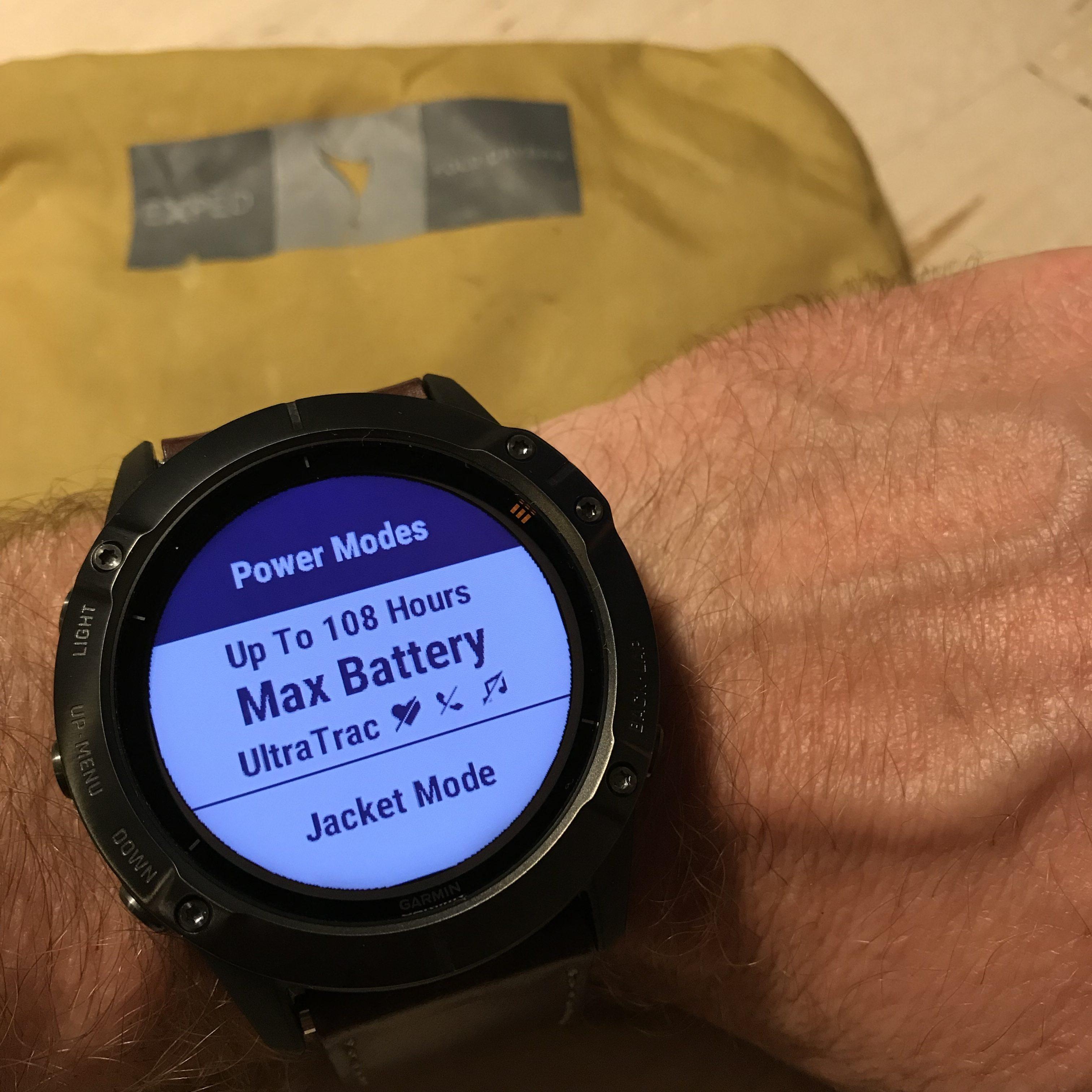 I den nye Power Manager menu kan du direkte kan se, hvordan de valg du tager i forhold til brug af GPS, optisk puls, tilknyttet tilbehør, baggrundsbelysning m.v. har indflydelse på driftstiden.