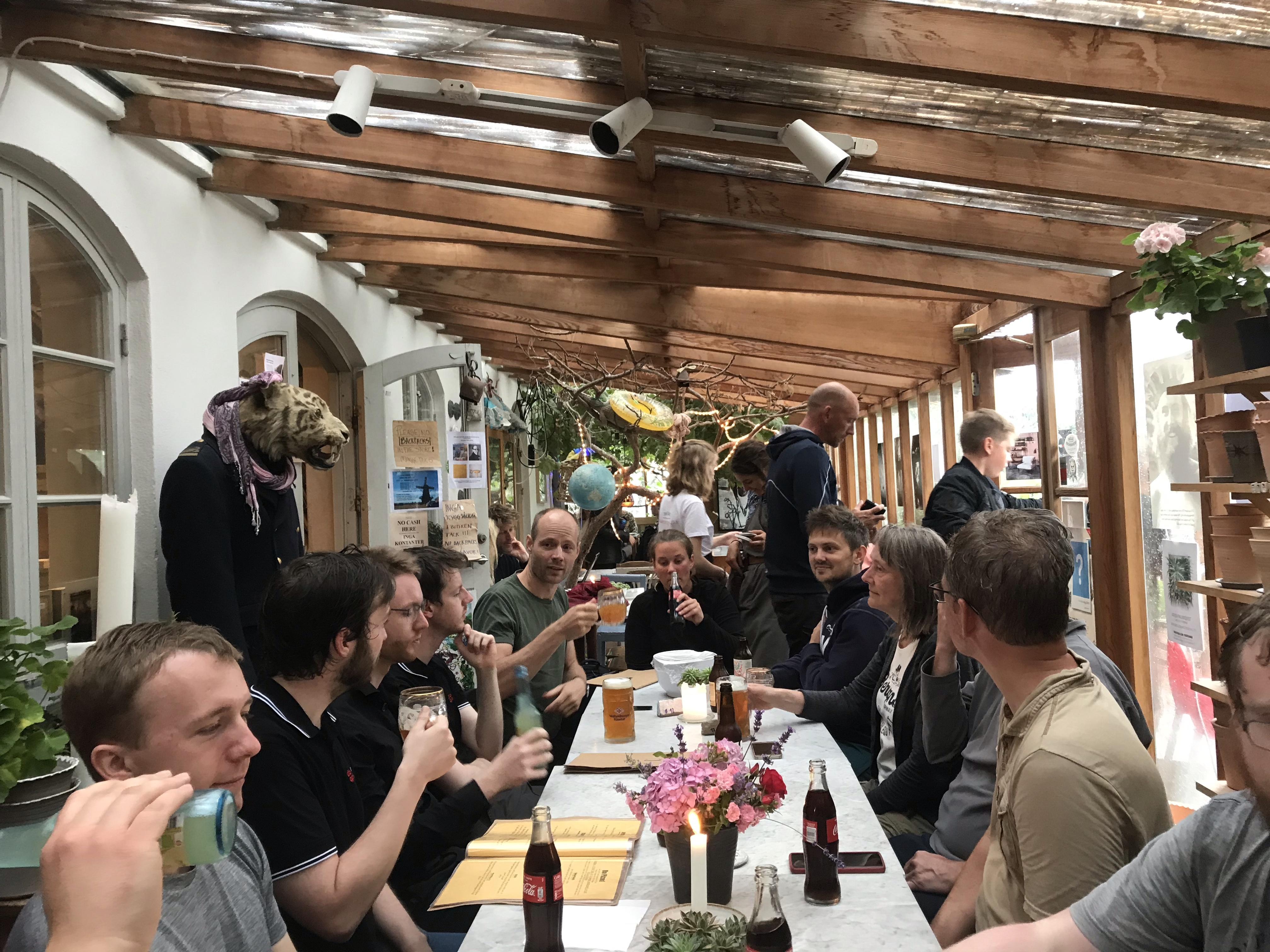 Krukmakeriet i Mölle danner rammen om afslutningen på vores tur. Her serveres Skånes lækreste pizza og skønne specialøl. Foto: Knut Korczak